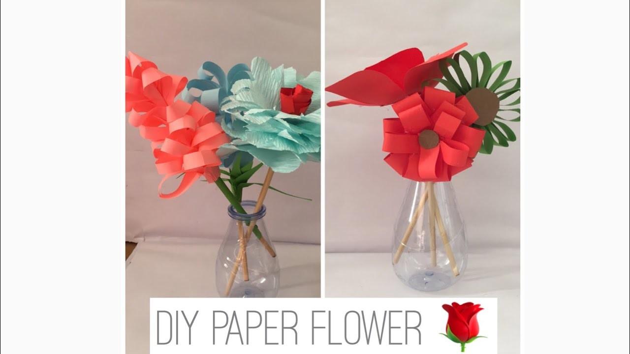 DIY PAPER FLOWERS | PAPER ART | DECORATION IDEAS | FLOWER DECORATION