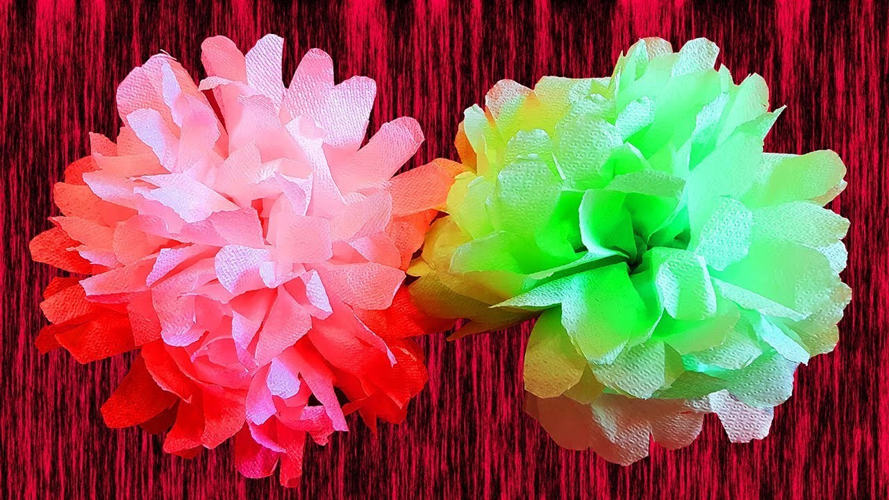 DIY Pompoms for party, Wedding Pompoms from napkins | DIY Paper Craft