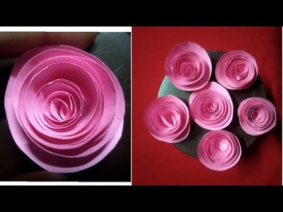 DIY Rolled Paper Flowers||How to make rolled flowers