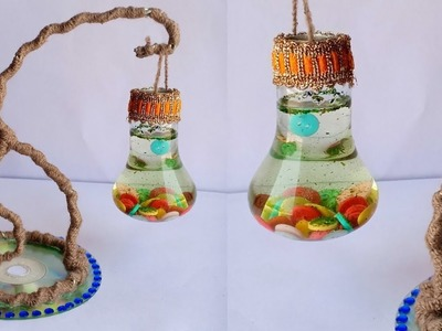 DIY : Waste Bulb Reuse idea | Best out of Waste | Room decor Craft idea | Recycle of bulb