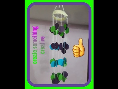 DIY- wind chimes by colour paper # home decoration # paper craft ⚘????