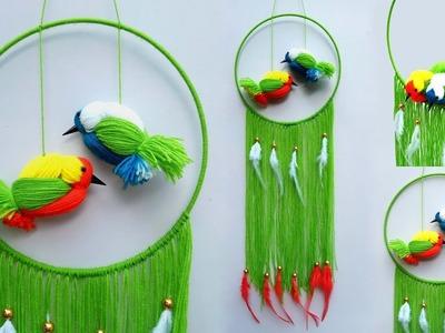 DIY Woolen Birds Wall Hanging for Home Decor| Easy Woolen Bird craft | How to make bird