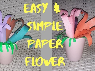 Easy and Simple Paper Flower as Kids project|Kids Craft|Paper Flower