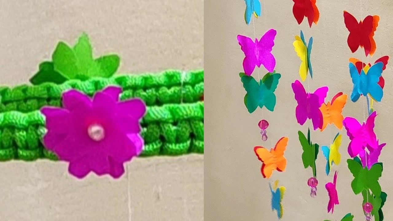 || Easy Paper Craft IDEA || Simple Butterfly Wall Hanging ||
