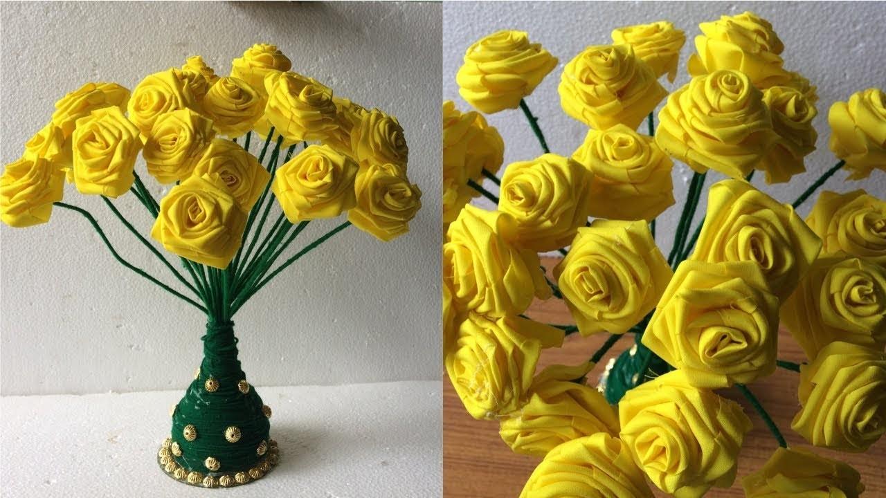 Fabric Roses Guldasta | Woollen Craft Idea | DIY