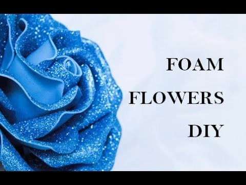 Foam sheet flowers. How to make foam rose. Foam sheet craft ideas. DIY wedding decorations