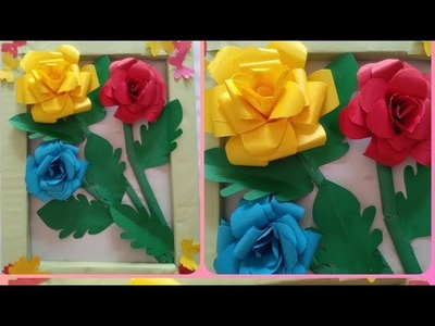 How to diy unique wall hanging flower scenery by queen's craft