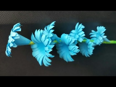 How to make a Beautiful Paper Stick Flower | DIY Craft ideas for Room | Paper craft