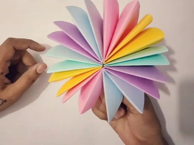 How to make a osam colorful umbrella????☔☔☂️,,  paper art and craft vedio