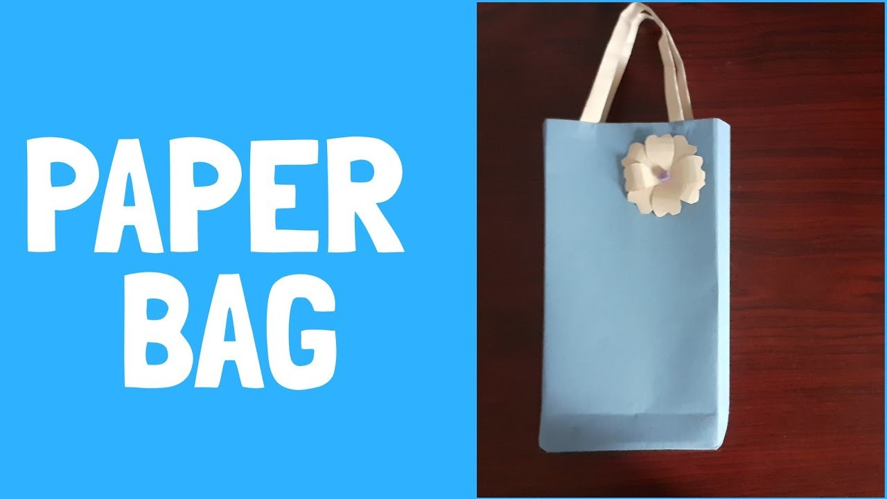 How to make a paper bag | paper bag making | craft cart