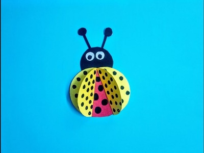 How to make a paper bug for kids || easy paper craft for kids.