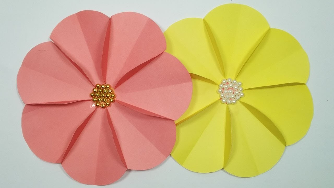 How to make  beautiful flower   very easy paper craft.