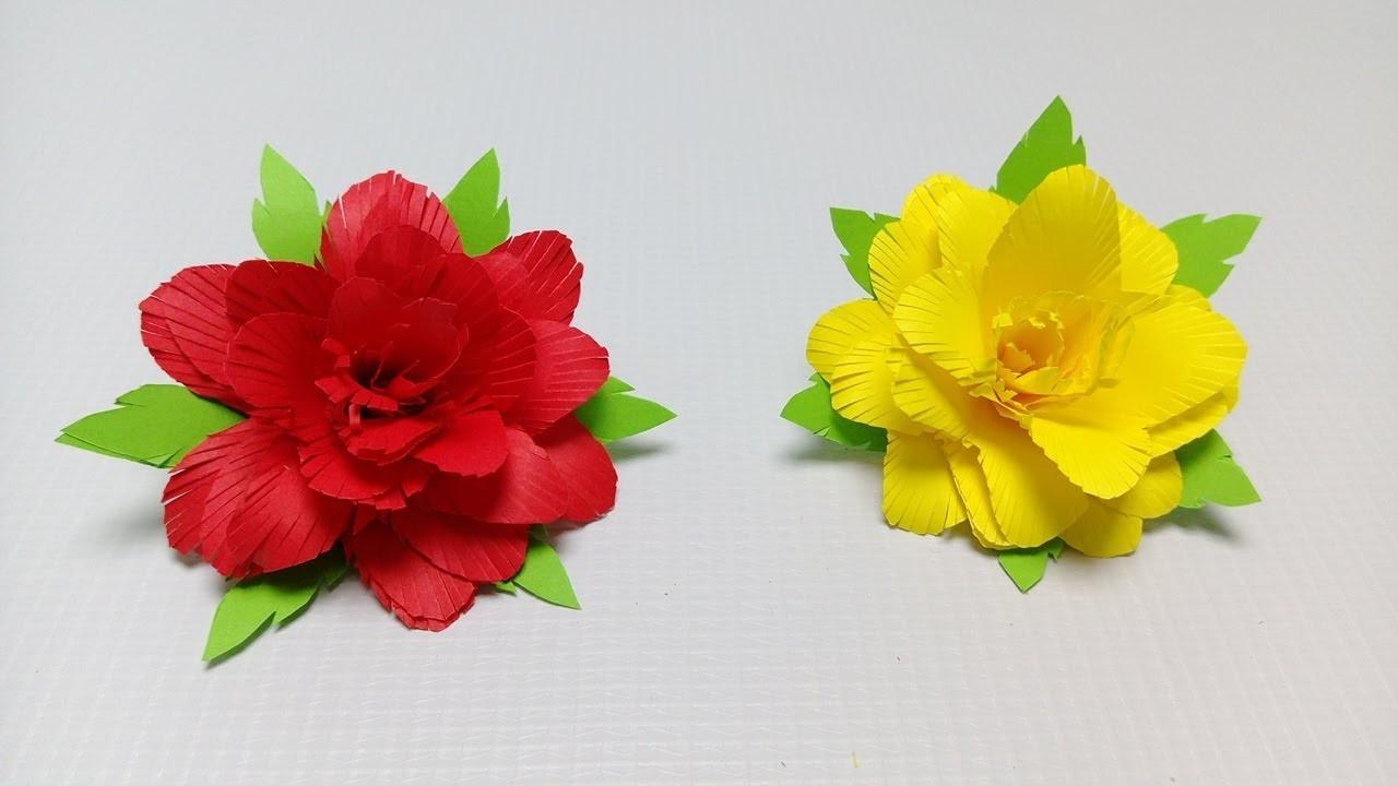 How to make beautiful Paper Flower Making - Rainbow Craft