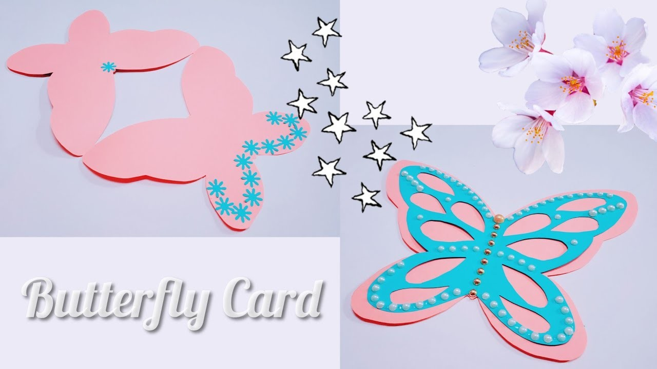How to make butterfly card. DIY birthday card