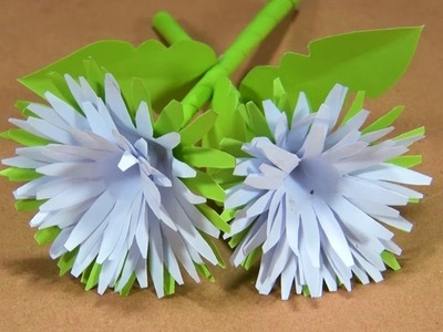 How to make craft paper flower l kagojer ful banano o sajano