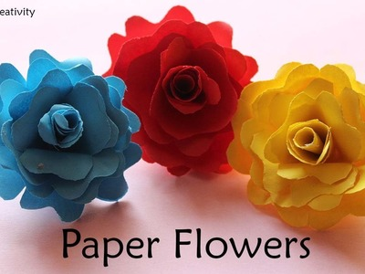 How to make Easy paper flower-DIY Paper Craft-Easy Flower making Idea