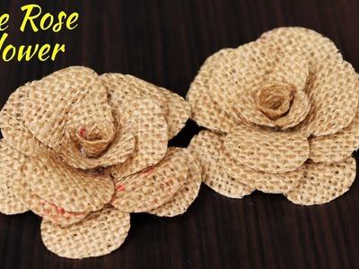 How to Make Jute Flower   DIY Rose Flower with Jute   Jute Craft Decoration Design