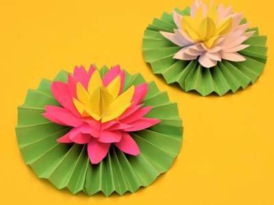 HOW TO MAKE LOTUS FLOWERS WITH PAPER | DIY PAPER CRAFT | CRAFT SIDE