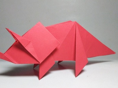 How to make origami Dinosaur Triceratops - Paper Animals DIY