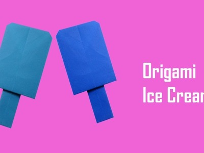 How to Make Origami Paper Ice Cream Craft - Origami for Kids - Origami Paper Ice Cream for Kids