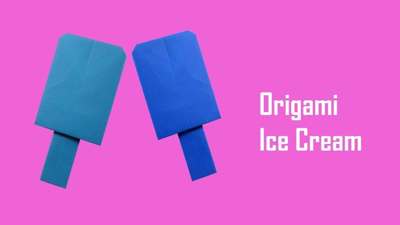 How to Make Origami Paper Ice Cream Craft - Origami for Kids - Origami Paper Ice Cream for Kids