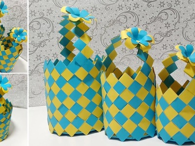 How to make paper basket at home - DIY - Paper Craft