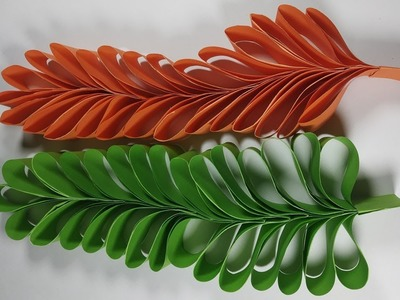 How to make paper leaves | Decorative Leaves Making | Easy paper craft.