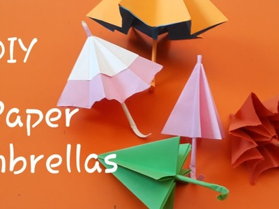 How to make paper umbrella open and close ll Paper Umbrellas diy