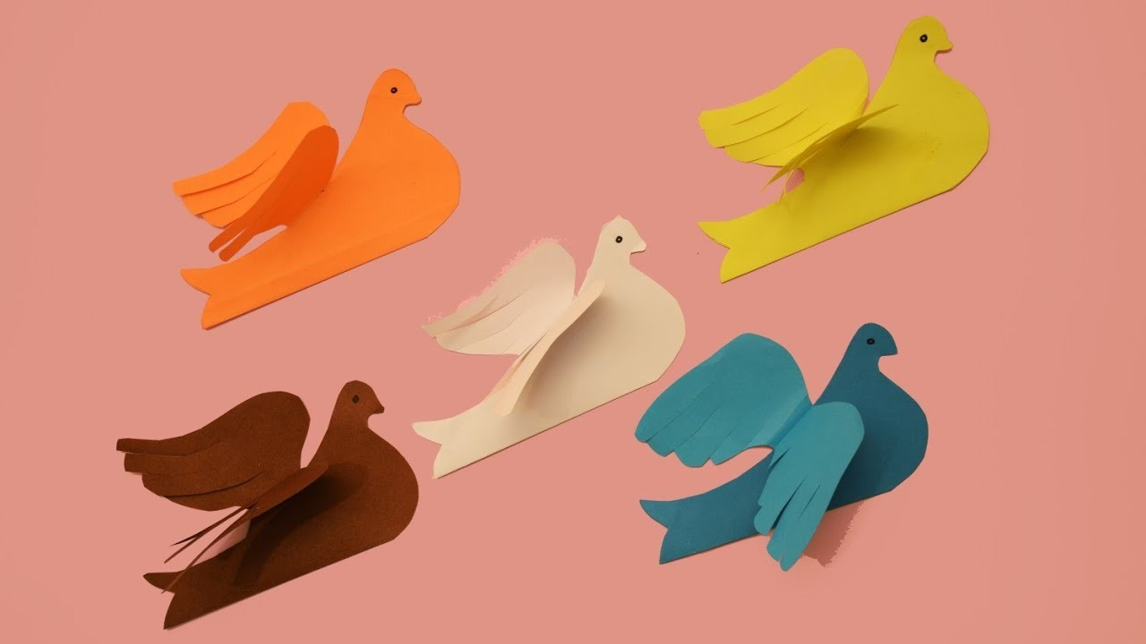 HOW TO MAKE PIGEONS | DIY PAPER CRAFTS | CRAFT SIDE