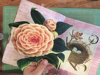 I'm sorry I've been gone. Life update. craft with me in my vintage junk journal