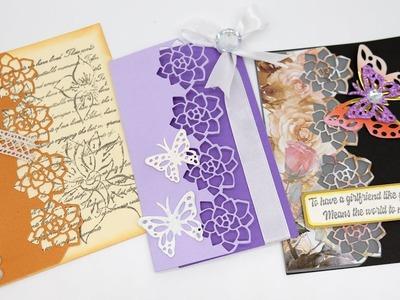 InLovearts  Elegant Rose Card Making Tutorial & DIY Paper Crafts