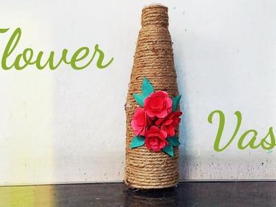 Jute craft|Flower vase.