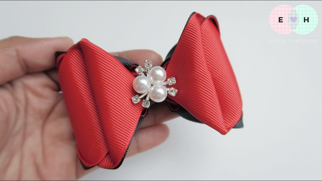 Laço De Fita ???? Ribbon Bow Tutorial #76 ???? DIY by Elysia Handmade