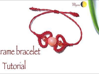 Macrame heart bracelet- DIY bracelet - VT0034