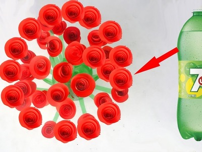 Make Beautiful table flower tree with plastic bottle # Plastic bottle craft for standard table