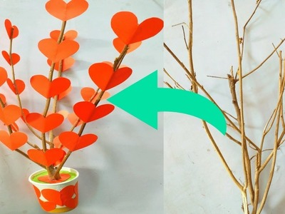 New amazing idea || tree craft with paper || home decoration