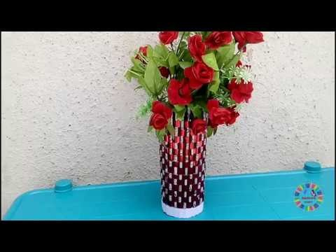 Newspaper Flower Vase | Newspaper Craft