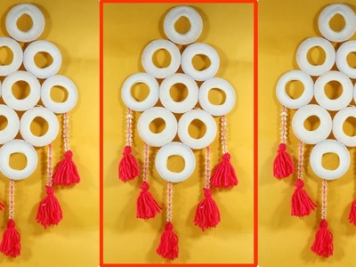 Old Bangles and Woolen Best out of waste | Craft Wall Hanging Ideas |