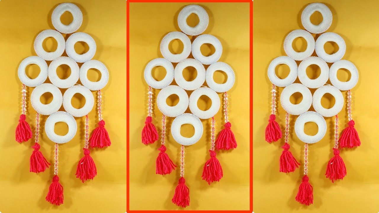 Old Bangles and Woolen Best out of waste   Craft Wall Hanging Ideas  