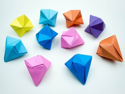 How To Make An Origami Diamond Base - Folding Instructions ... | 300x400