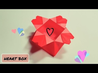 Origami Paper Craft : Heart Box