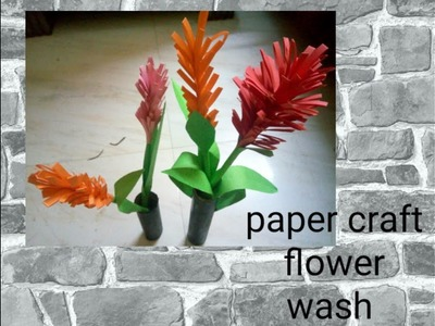 Paper craft flower making video