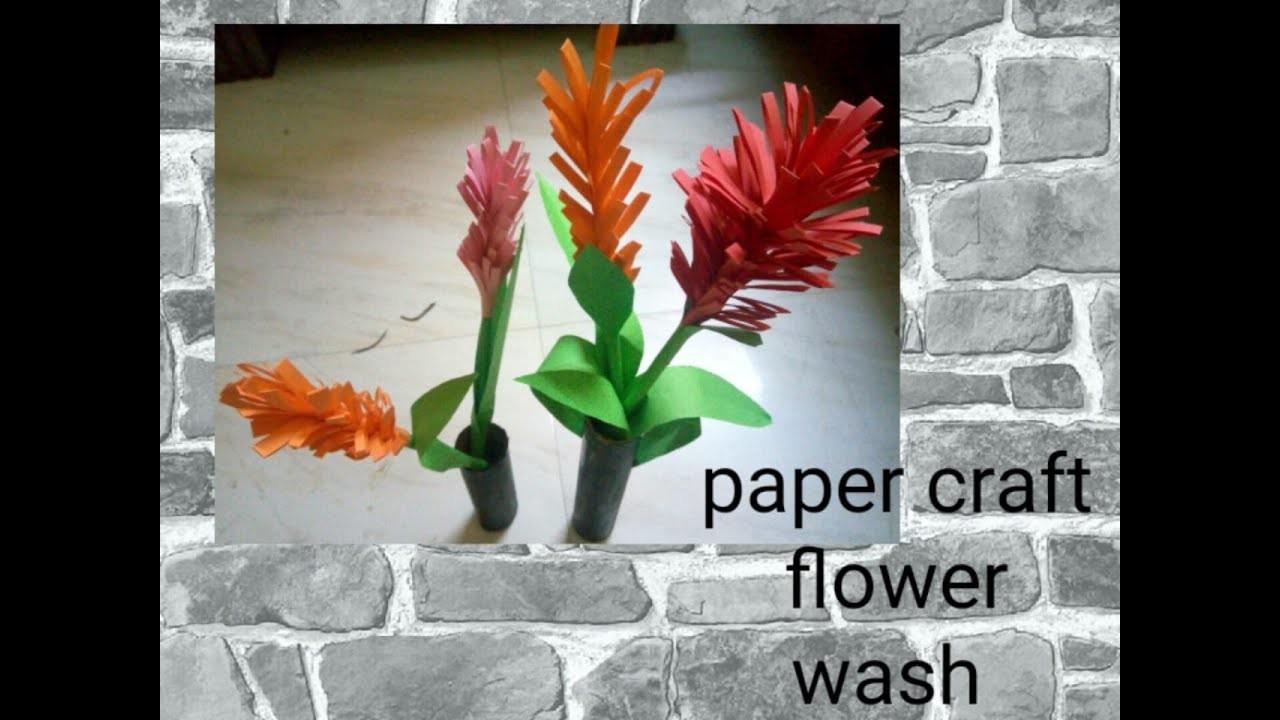 Paper craft flower making video
