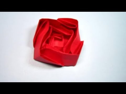 Paper Craft - Make Paper Rose by folding paper