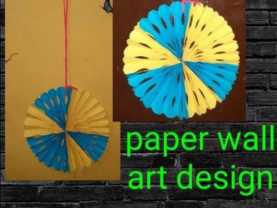 Paper craft wall art design