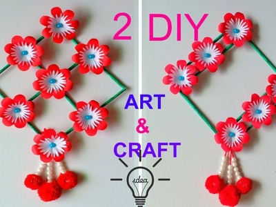PAPER CRAFT!!! WALL HANGING CRAFT IDEAS!! ROOM DECORATION.DIY ART AND CRAFT