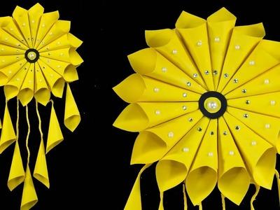 PAPER CRAFT!!! WALL HANGING CRAFT IDEAS!! ROOM DECORATION IDEAS || Nusrat DIY Crafts