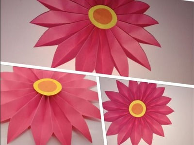 Paper Flower Craft || Simple and Easy Wall Decor Idea || Birthday Party Decoration