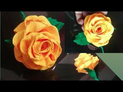Paper Flower DIY. Flower Making.Paper Craft.Easy Craft