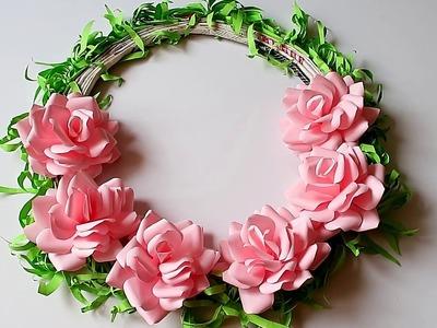 Paper Flower Wall Decoration Idea - Paper Craft - DIY Flower 2306
